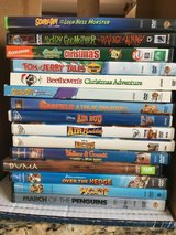 Assorted Kids DVD's Air Bud, SpongeBob, Garfield, Beethoven, Tom & Jerry, Scooby-Doo, etc. in Westmont, Illinois