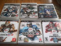 PS3 BASEBALL AND FOOTBALL WITH ONE ULTIMATE GENESIS  TOTAL OF 8 GAMES in Perry, Georgia
