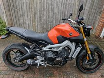 US spec Yamaha FZ09 in Lakenheath, UK
