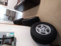 Set of Blizzak Snow Tires & Rims for a 96 Blazer! 235/75R15 in Chicago, Illinois