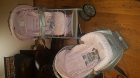 Graco pink stroller and car seat combo in Fort Knox, Kentucky