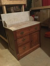 Antique Cherry and Marble Top Drysink/ Cabinet in Quantico, Virginia