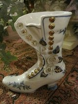vintage porcelain Victorian boot vase in Yucca Valley, California