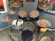 Drum Set w/extra snare, heads, upgraded cymbals and stool! in Fort Belvoir, Virginia