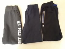 Sweat Pants (3) Boys size 14/16 (fila and Polo brand) navy size 10/12 in Lockport, Illinois