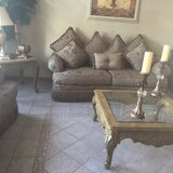 Sofa Set and Tables in Yorkville, Illinois