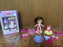 15 Piece Fisher Price Snap N Style princess doll etc. in Bartlett, Illinois