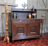 Antique Late 1800s Solid Wood Bar Buffet in Ramstein, Germany