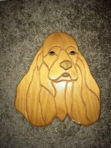 adorable handmade wooden dog wall hanging in Wright-Patterson AFB, Ohio