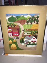 very nice hand stitched country farm wall art in Wright-Patterson AFB, Ohio