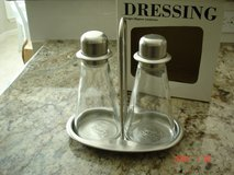 Glass/Stainless Salad Dressing set in Kingwood, Texas