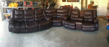 Ashley leather sectional sofa recliner in Vacaville, California