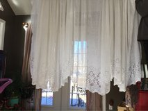 White Sheer Lace Curtains in Fort Campbell, Kentucky