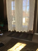 Beige Scalloped Curtain in Fort Campbell, Kentucky
