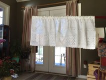 Eyelet White Valance in Fort Campbell, Kentucky
