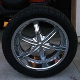 Rims, Wheels, and Tires, set of  5 in Oceanside, California