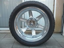 Set of 5 Rims, Wheels, and Tires in Oceanside, California