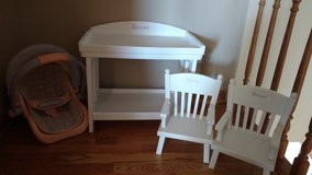 Bitty Baby Changing table, chairs in Lockport, Illinois
