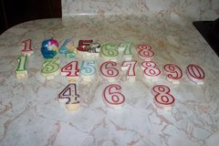 Assortment of numeric birthday candles in Spring, Texas