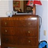 Antique dresser and mirror in Kingwood, Texas