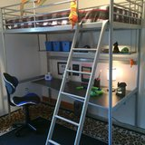 IKEA Svärta Bunk bed with desk and shelf in Baumholder, GE