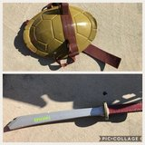 Ninja turtle shell and sword in Cherry Point, North Carolina