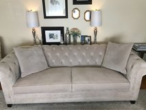 Martha Stewart tufted sofa in Travis AFB, California