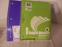 2 Wide Ruled 1 Subject Notebook in Yorkville, Illinois