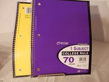 2 College Ruled 1 Subject Notebooks in Yorkville, Illinois