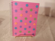 Pink Notebook With Flowers in Yorkville, Illinois
