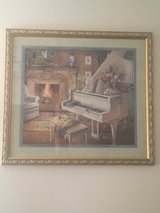 29 X 32 Home interiors piano by fireplace in Fort Campbell, Kentucky