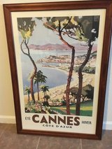 Cannes poster with frame in Fort Leonard Wood, Missouri