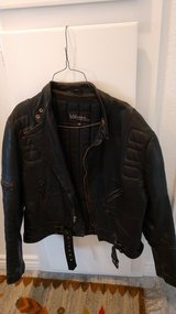Men's Leather Belted Motorcycle Jacket - Wilsons Leather in 29 Palms, California