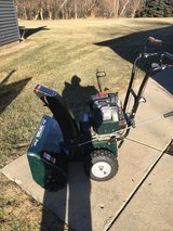 "2 stage big craftsman snowblower 9hp. motor 26"" opening electric start 6 forward speeds 2 revers... in Sandwich, Illinois"
