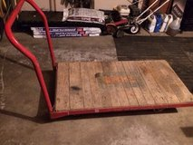 4' X 2' four wheel steel frame with wood deck cart in Yorkville, Illinois