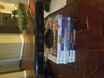 Xbox 360 Kinect with 6 games in Tomball, Texas