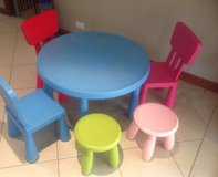 mammut ikea table and two chairs in Naperville, Illinois