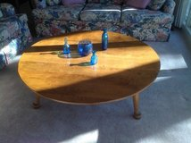 Round wood coffee table in Naperville, Illinois
