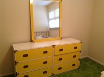 Yellow Metal Dresser/mirror in Naperville, Illinois