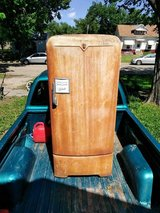 antique Crosley fridge in Manhattan, Kansas