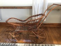 Doll Buggy - Antique Wicker and Wood in Chicago, Illinois