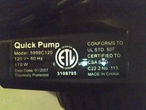 Coleman- Quick Pump - Model 5999C120 in Beaufort, South Carolina