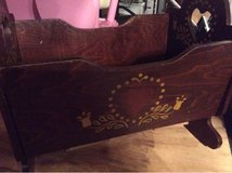 Vintage wooden baby doll crib in Houston, Texas