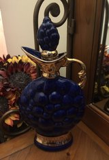 Vintage 1963 Creation of James B. Beam Genuine Regal China Cobalt Gold Decanter in Aurora, Illinois