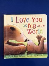 I Love You As Big As The Word  hardcover board book in Okinawa, Japan