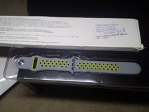 Apple Watch band 38mm sport silicone flat silver/volt in Fort Campbell, Kentucky