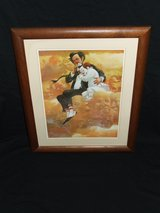 "Clown Print "" Freindship"" by Robert Owen Signed Framed in Plainfield, Illinois"