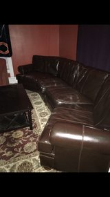 Leather couch in Peoria, Illinois