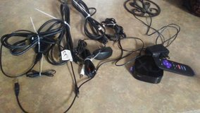 Misc cords, cables, and Roku box in Warner Robins, Georgia