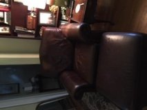 Leather chair and ottoman in Tampa, Florida